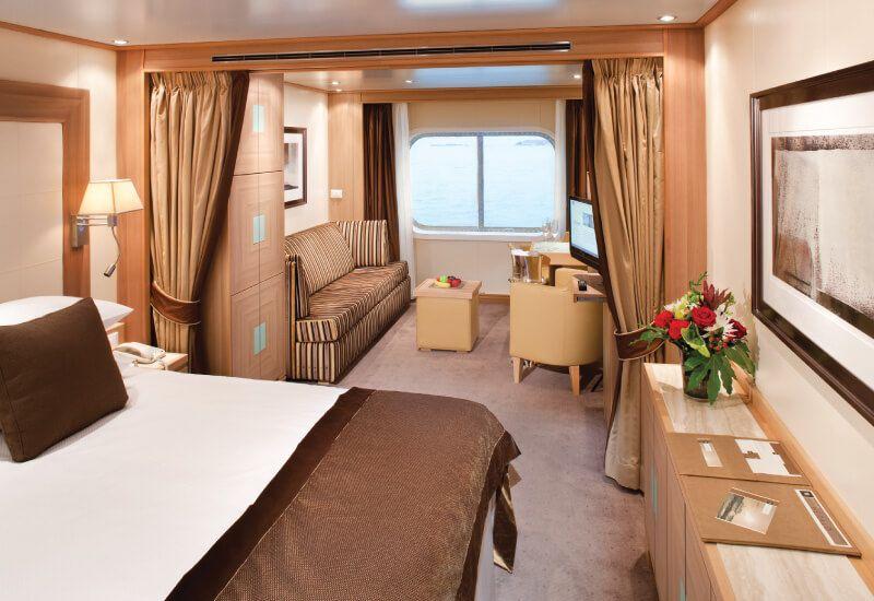Suite extérieure du bateau de croisière Seabourn Sojourn