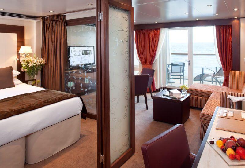 Suite Penthouse du bateau de croisière Seabourn Sojourn