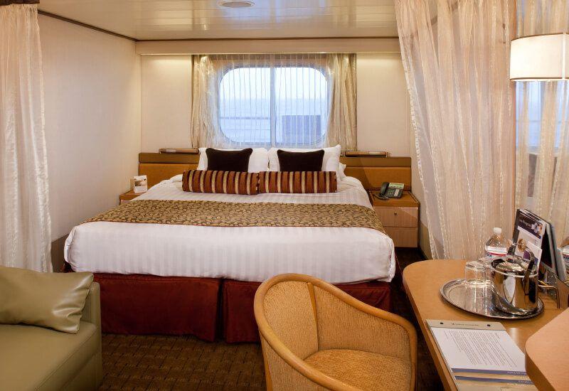 Cabine extérieure du bateau de croisière MS Amsterdam