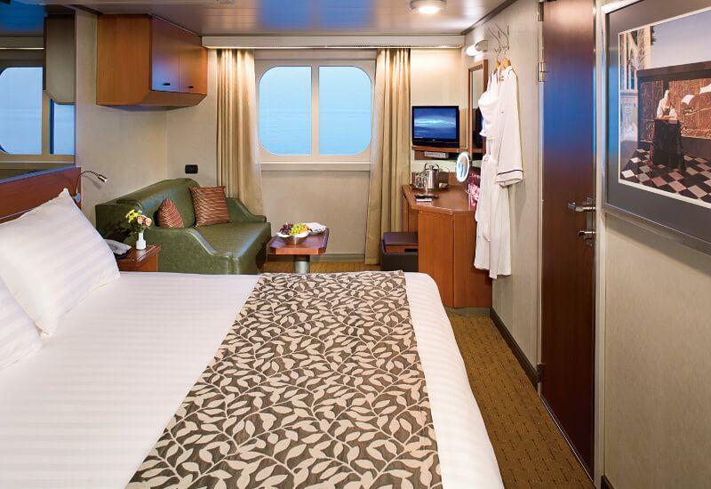Cabine extérieure du bateau de croisière MS Eurodam
