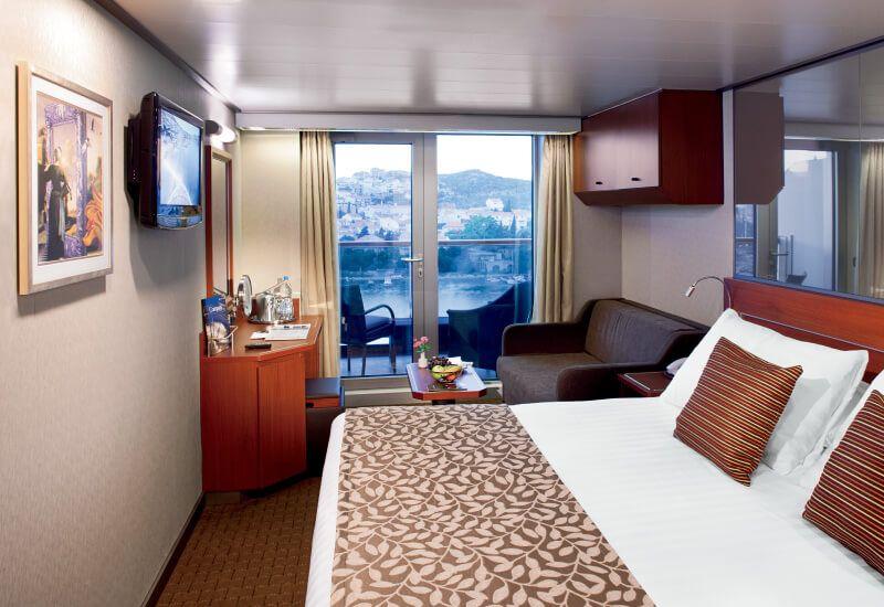 Cabine balcon du bateau de croisière MS Nieuw Amsterdam
