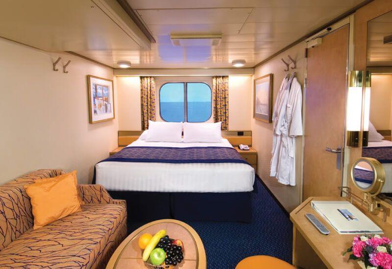 Cabine extérieure du bateau de croisière MS Oosterdam