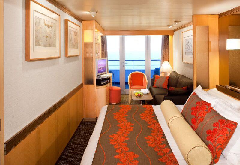 Cabine balcon du bateau de croisière MS Veendam