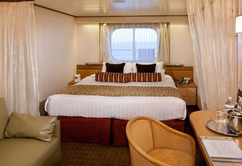 Cabine extérieure du bateau de croisière MS Veendam