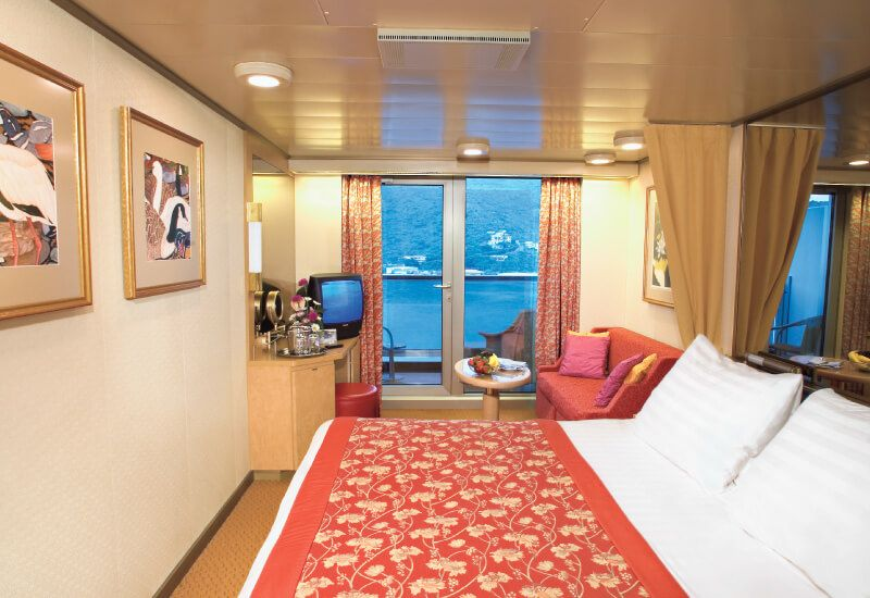 Cabine balcon du bateau de croisière MS Westerdam