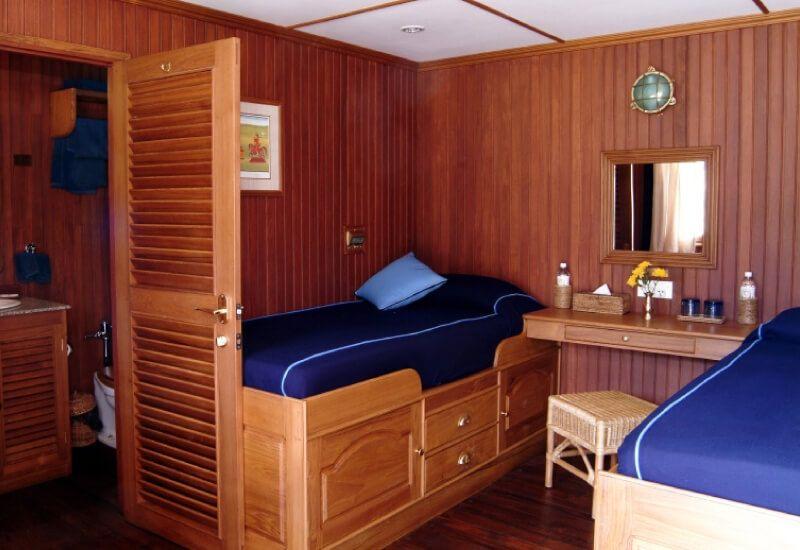 Cabine Extérieure du bateau RV Indochine