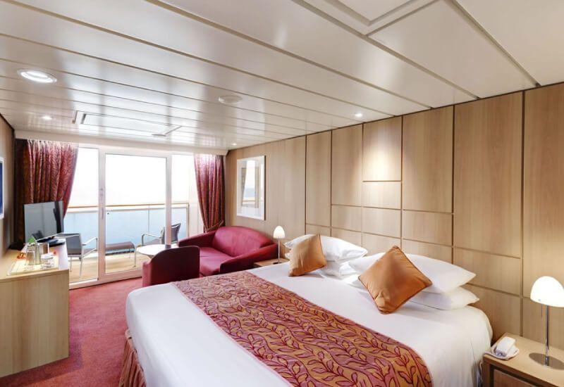 Cabine balcon du bateau de croisière MSC Sinfonia