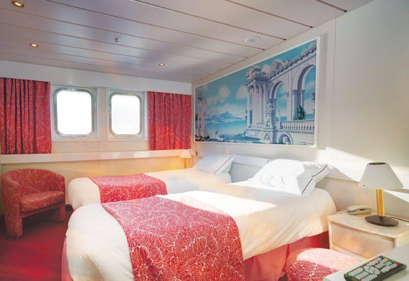 Cabine Extérieure du bateau de croisière MS Astoria