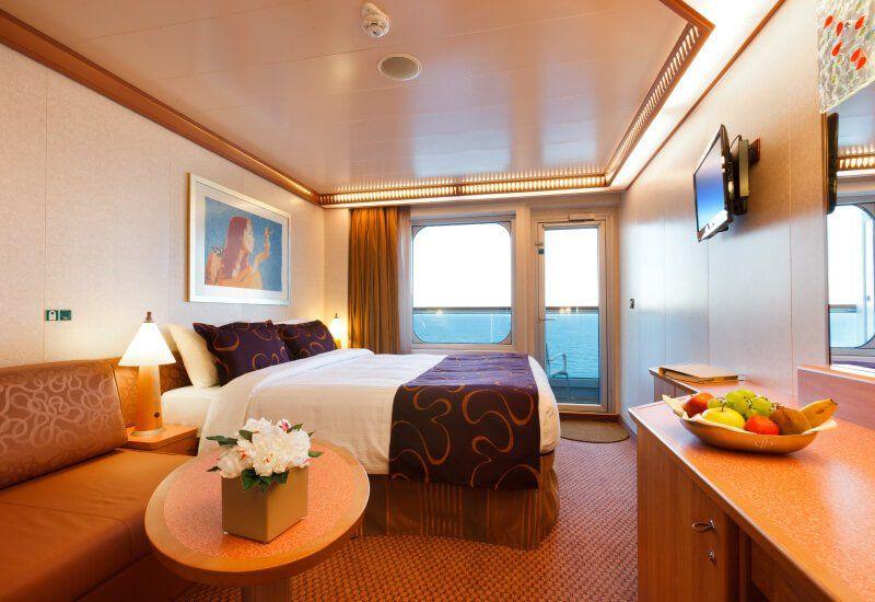 Cabine balcon du bateau de croisière Costa Fascinosa