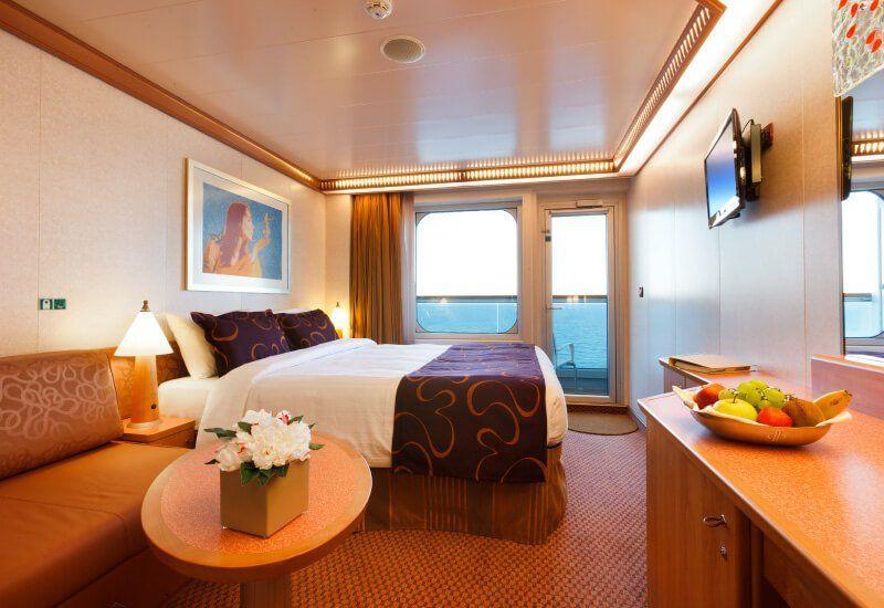 Cabine balcon du bateau de croisière Costa Favolosa