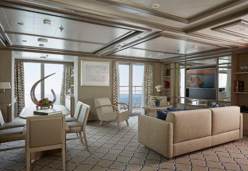 Owner's suite du bateau de croisière Silver Muse