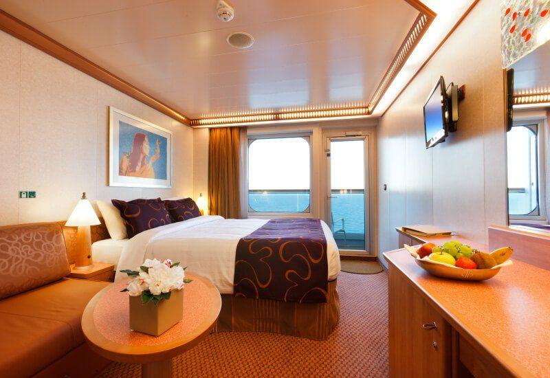 Cabine balcon du navire de croisière Costa Deliziosa