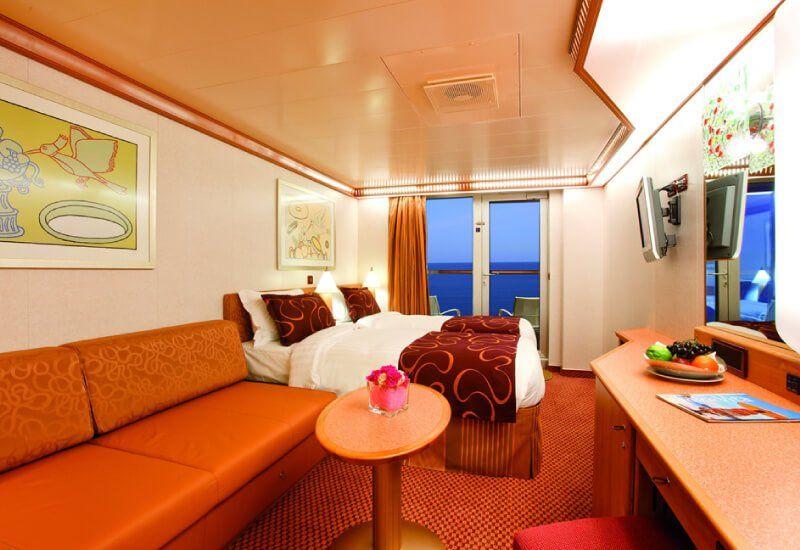 Cabine Balcon du bateau de croisière Costa Pacifica