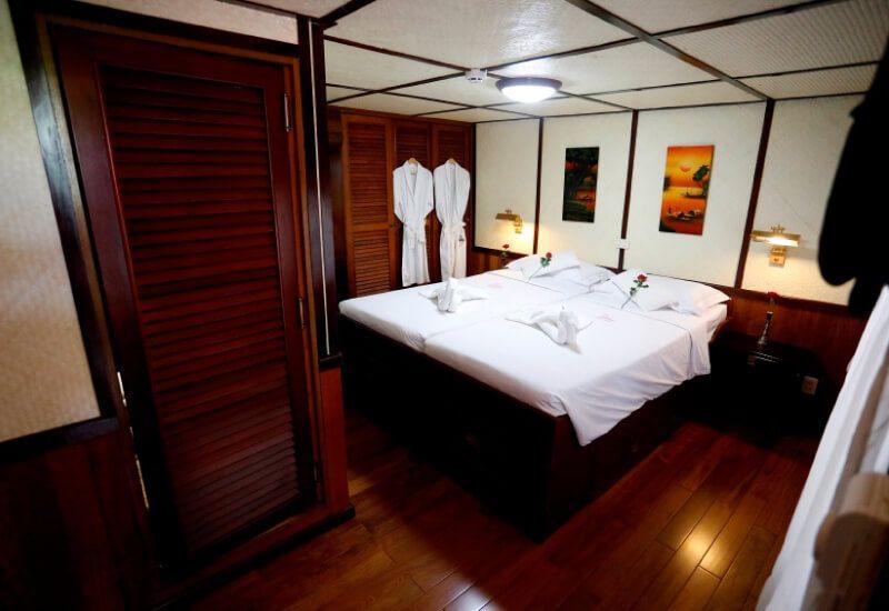 Cabine Extérieure du bateau RV Indochina Pandaw