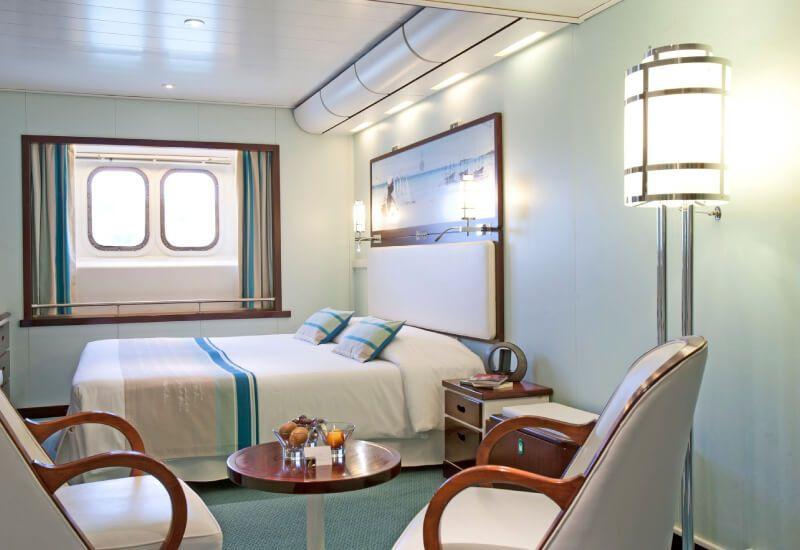 Cabine extérieure Deluxe du bateau de croisière Club Med 2