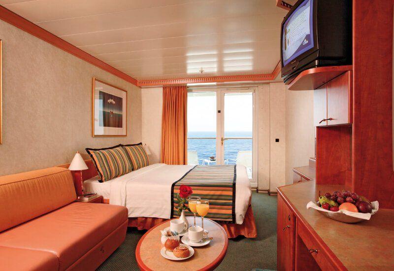 Cabine balcon du bateau de croisière Costa Magica