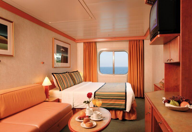 Cabine extérieure du bateau de croisière Costa Magica