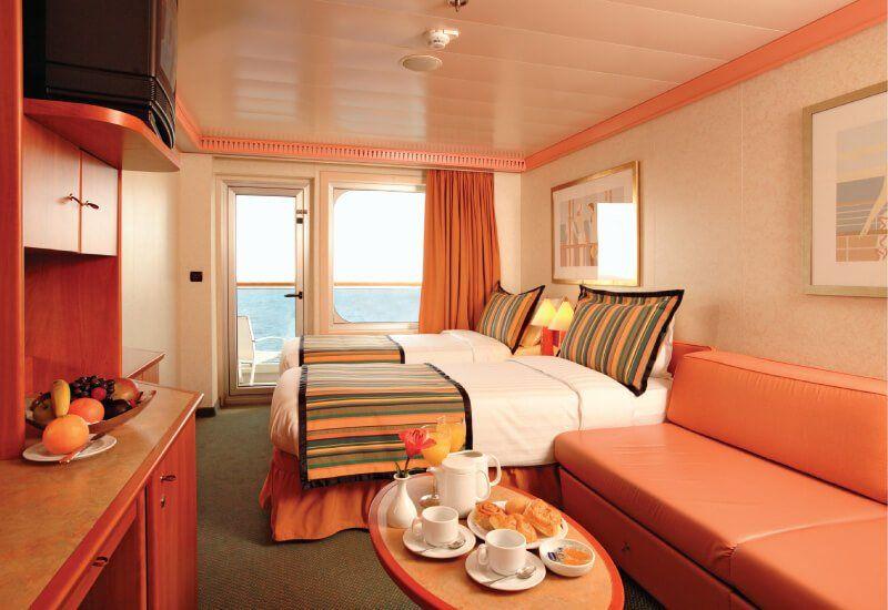 Cabine Balcon du bateau de croisière Costa Fortuna