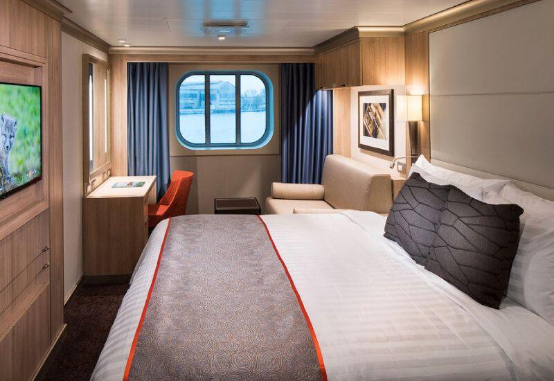 Cabine Extérieure du bateau de croisière MS Nieuw Statendam
