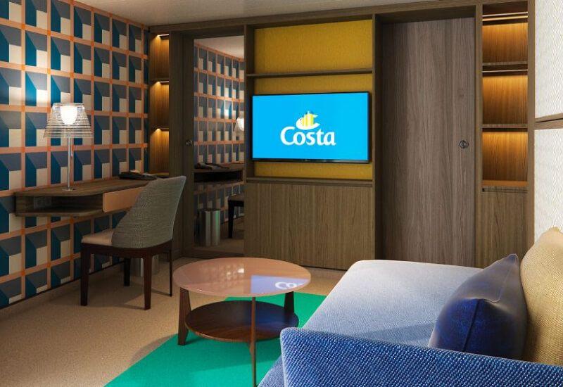Suite du bateau de croisière Costa Smeralda