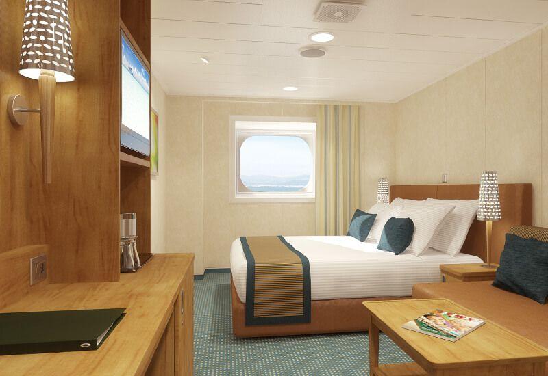 Cabine Extérieure du bateau de croisière Carnival Vista