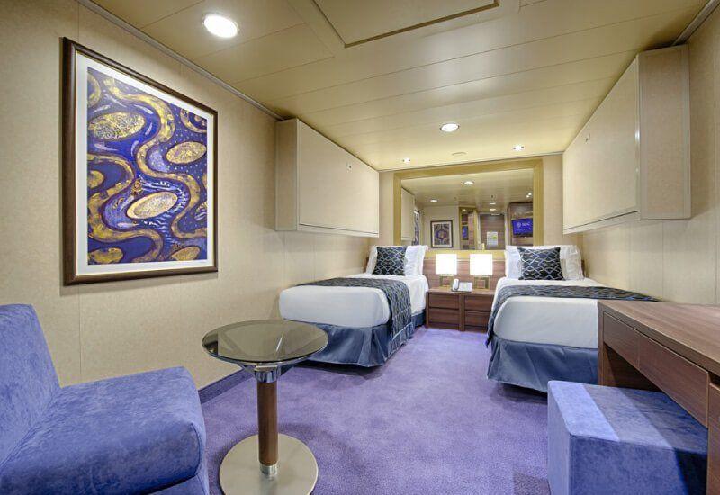 Cabine intérieure du bateau de croisière MSC Preziosa