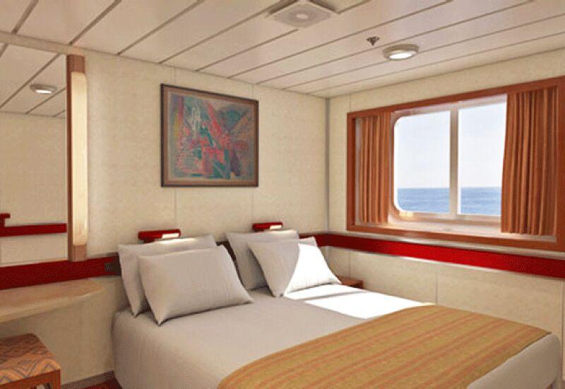 Cabine Extérieure du bateau de croisière Carnival Inspiration