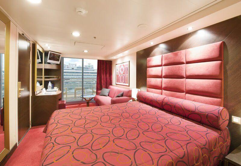 Cabine balcon du bateau de croisière MSC Fantasia