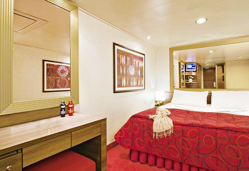 Cabine intérieure du bateau de croisière MSC Fantasia