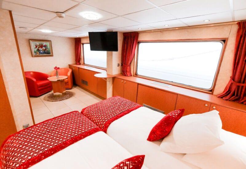 Cabine Extérieure du bateau de croisière MS Rhône Princess