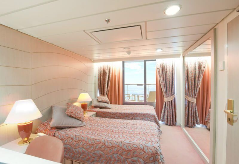 Cabine balcon du bateau de croisière MSC Opera