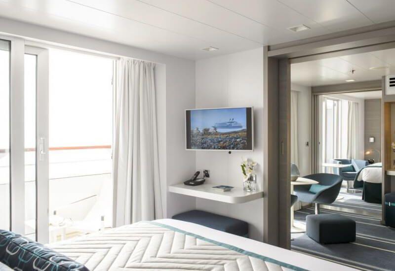 Suite de luxe du bateau de croisière Le Lyrial
