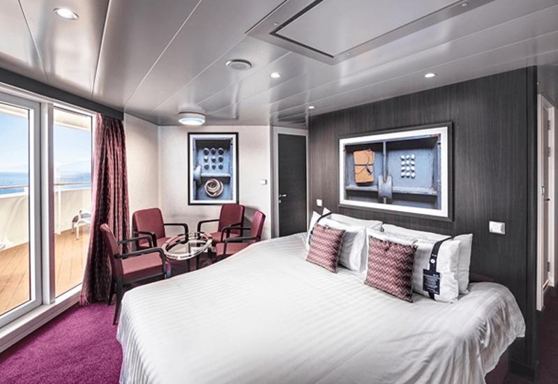 Cabine balcon du bateau de croisière MSC Meraviglia