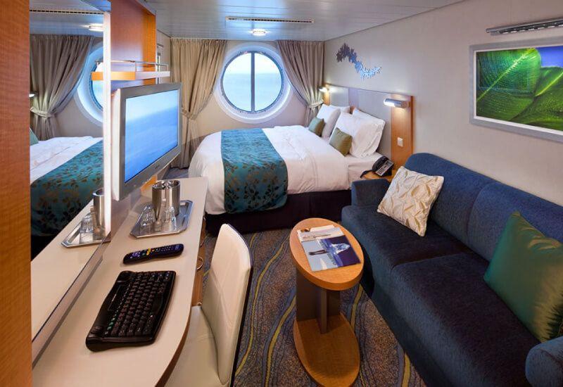 Cabine extérieure du bateau de croisière Allure of the Seas