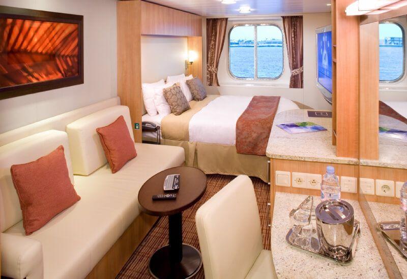 Cabine extérieure  du bateau de croisière Celebrity Equinox