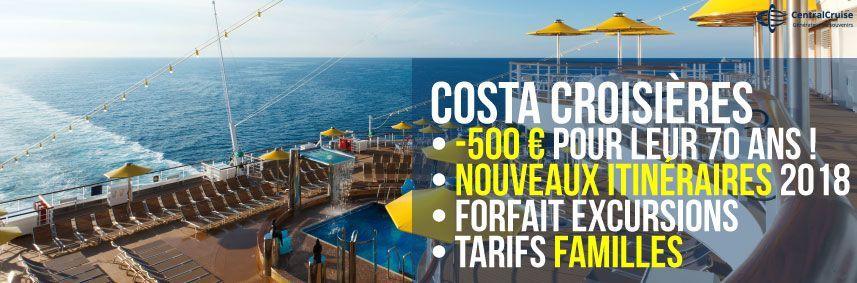 Costa Croisières : les meilleures offres 2017 - 2018