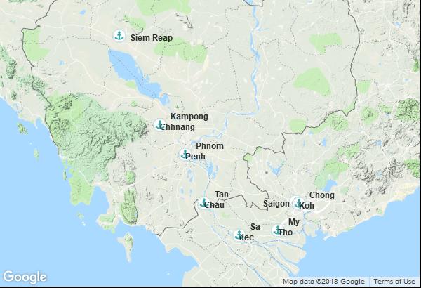 Itinéraire de la croisière : Cambodge, Viêt Nam