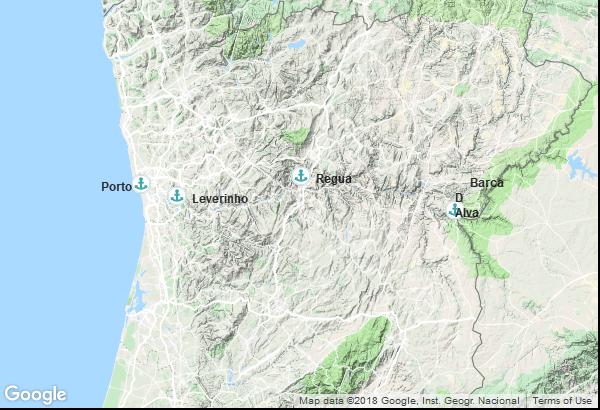 Itinéraire de la croisière : Portugal