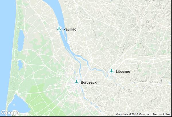 Itinéraire de la croisière : France