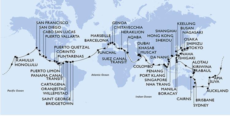 Croisière Tour du Monde MSC 2021
