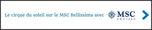 Le cirque du soleil sur le MSC Bellissima avec MSC