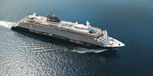 Explora I, bateau de la compagnie de luxe Explora Journeys (vue aérienne)
